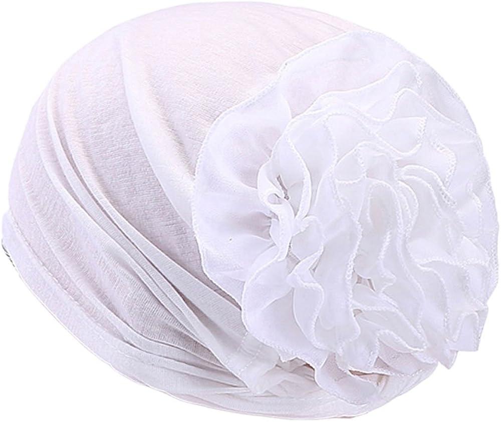 Muslim Hijab Turban Arabic Head Scarf Flower Women Chemo Cap Cotton Bandana - SoundsBeauty