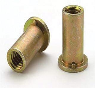 .027-.150 GR RND Body Splined 100 PK Steel 5//16-18 ALS4T-518-150 Zinc YLW RIVETNUT LG FLNG HD