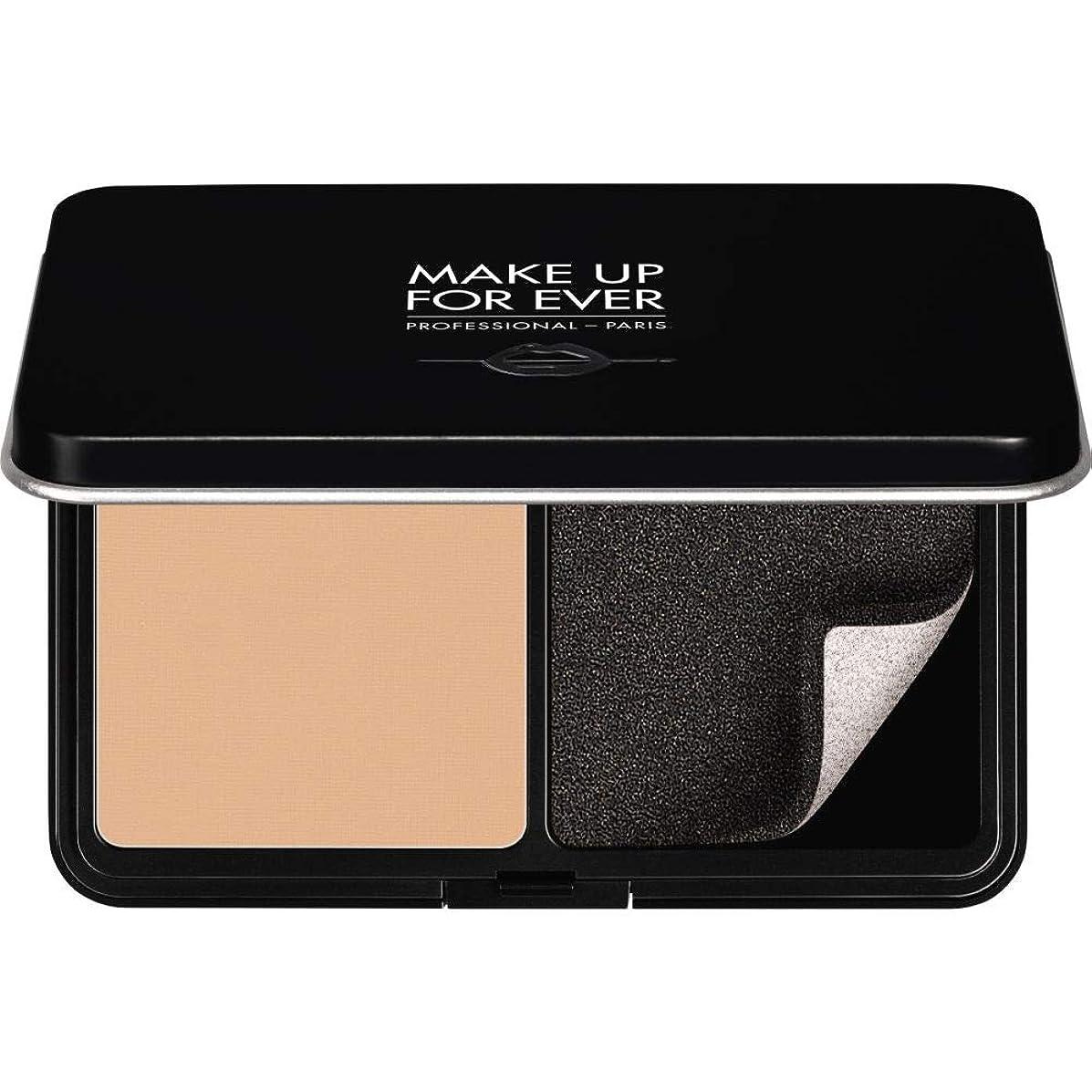 好戦的なメイド娘[MAKE UP FOR EVER ] これまでマットベルベットの肌は、パウダーファンデーション11GののR250をぼかすために作る - ヌードベージュ - MAKE UP FOR EVER Matte Velvet Skin Blurring Powder Foundation 11g R250 - Beige Nude [並行輸入品]