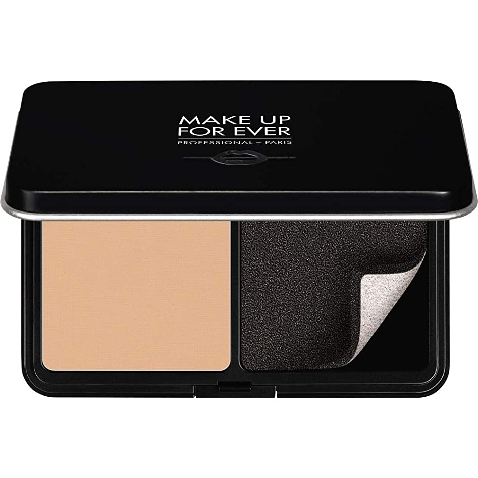 穏やかな財布生き残ります[MAKE UP FOR EVER ] これまでマットベルベットの肌は、パウダーファンデーション11GののR250をぼかすために作る - ヌードベージュ - MAKE UP FOR EVER Matte Velvet Skin Blurring Powder Foundation 11g R250 - Beige Nude [並行輸入品]