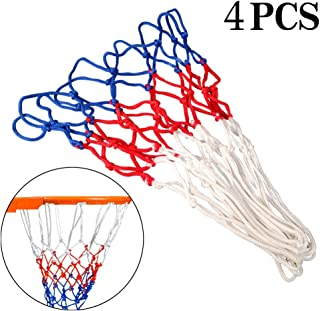 JJYHEHOT 4Pcs Basketball Net Replacement, Red White Blue Classic Style Basketball Net, Indoor & Outdoor Sports Sports and Leisure Accessories