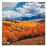 2021 Seasons Wall Calendar by Bright Day, 12 x 12 Inch, Winter Summer Spring Fall Landscape