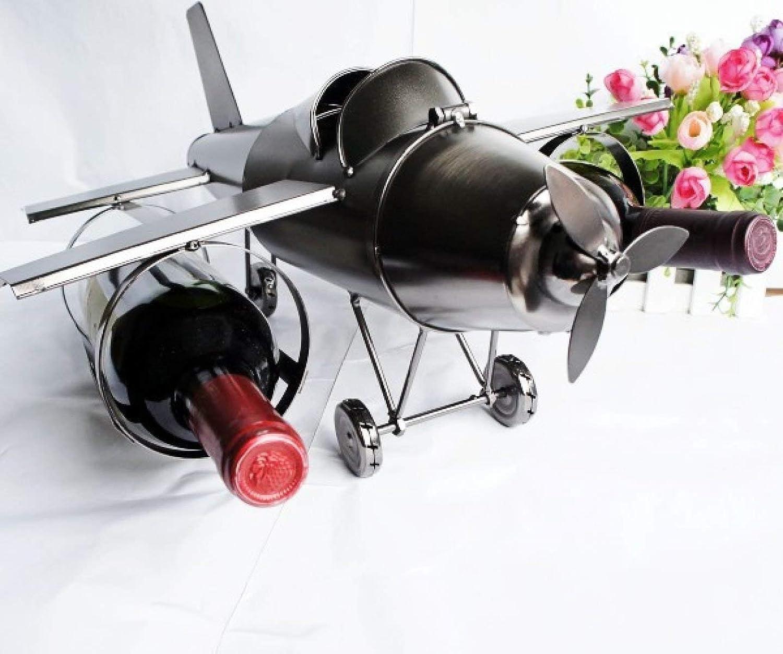 Red Wine Shelf Fighter Metal Handicraft Home Personality Creative Fashion Ornament Plane Red Wine Rack