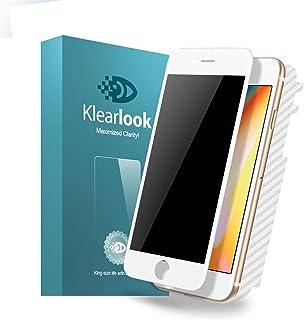 KlearLook Iphone 8/Iphone 7用 プライバシー防止系列 ケースに対応 強化ガラス液晶全面保護フィルム 覗き見防止 厚さ0.33mm 硬度9H 2.5Dラウンドエッジ加工 指紋防止 全面フルカバー(覗き見防止強化ガラス液晶面1枚+背面1枚 ) (Iphone 8/Iphone 7, ホワイト)