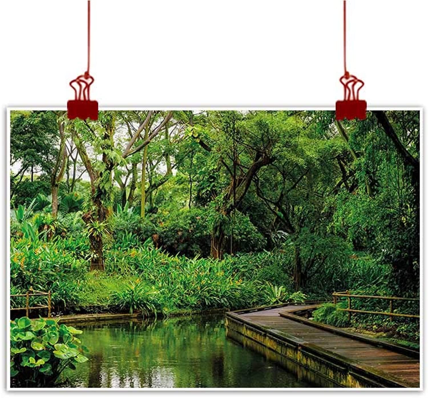 Anzhutwelve Outdoor Nature Inspiration Poster Wilderness Jungle,Toucan Parred Rainforest on Canvas Wall Decoration Wrapped