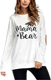 Women Casual Sweatshirt Crew Neck Long Sleeve Pullover Blouse Top T-Shirts