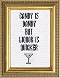 """Subversive Cross Stitch""""Candy is Dandy But Liquor is Quicker"""" Deluxe Kit"""