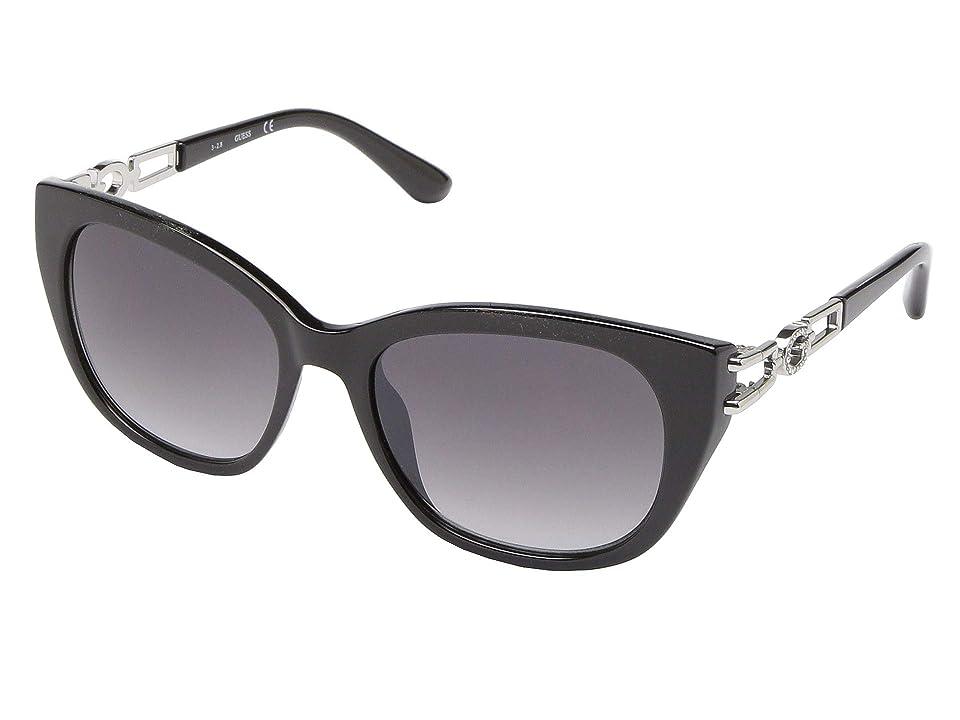 GUESS GU7562 (Shiny Black/Gradient Smoke) Fashion Sunglasses