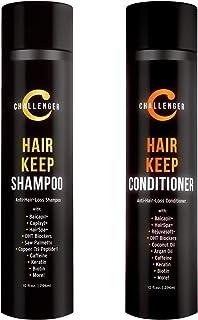 (Shampoo & Conditioner) - DHT Blocking Hair Keep Shampoo & Conditioner - 300ml Challenger Anti-Hair Loss Combo - with Baic...