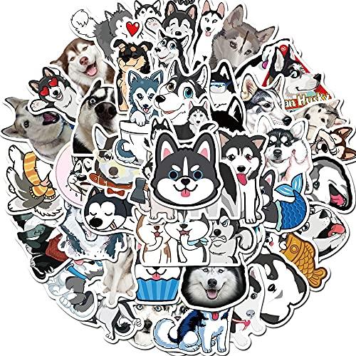 SHUYE Cute Animal Husky Stickers Laptop Maleta Equipaje Skateboard Graffiti Phone Cartoon...