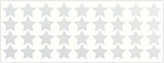 LiteMark Reflective 1 Inch Stars Sticker Decals for Helmets, Bicycles, Strollers, Wheelchairs and More - Pack of 36