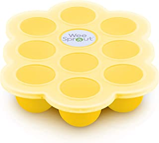 WeeSprout Silicone Baby Food Freezer Tray with Clip-on Lid by WeeSprout - Perfect Storage Container for Homemade Baby Foo...