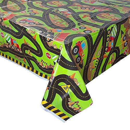 Bouw Verjaardagsfeestbenodigdheden Kunststof tafelkleed Eén maat Multi kleuren