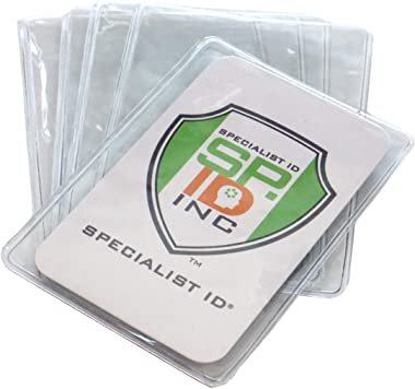 5 Pack - Premium Medicare Card Protector Sleeves - Durable 2 ⅜ X 3 ⅜ Business Card Holders - Clear Vinyl Plastic Covers for I