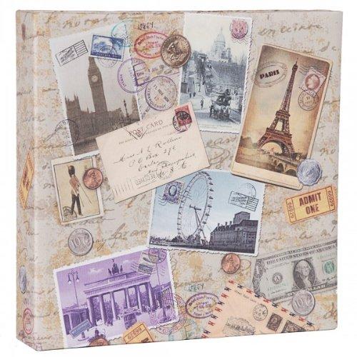 Quantio HENZO Einsteck Fotoalbum City Travel - für 200 Bilder 10x15 cm - Bilderalbum - Einsteckalbum - Album - Urlaubsalbum
