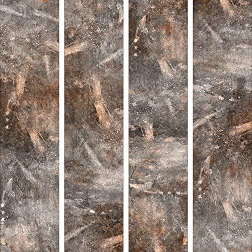 murando - PURO TAPETE - Realistische Tapete ohne Rapport und Versatz 10m Vlies Tapetenrolle Wandtapete modern design Fototapete - Steine Metal Wand f-A-0260-j-b