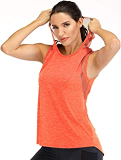 Fihapyli Workout Tank Tops for Women Athletic Exercise Relaxed Breathable Sleeveless Hoodie Shirts Top