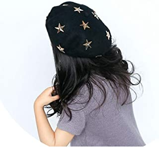 ZYLASTORE Children Wool Beret Cap Kids Girls Hat Cute Cartoon Five Pointed Star Hat The Baby Hat Fall Winter Hats