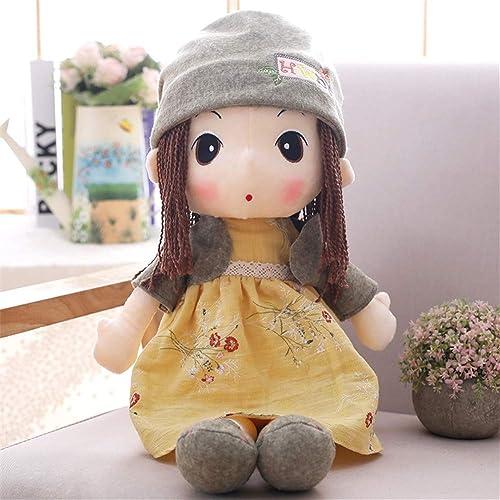 PANGDUDU Gelb Sü mädchen Puppe Plüschtier Puppe Kinder Puppe Prinzessin Schlafkissen Geburtstagsgeschenk Kinder, 90Cm