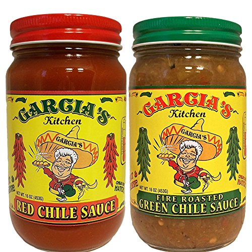 Garcia s New Mexico Kitchen Red Chile Sauce and Roasted Green Chile Sauce 2 Pack