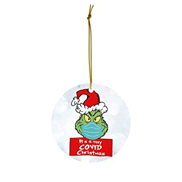 2020 Stink Stank Stunk Christmas Ornaments - Unique Christmas Hanging Ornament for Christmas Tree Decorations, Grinch Ornament Xmas Decorating Set Creative Friends Gift for Holiday Family (D)