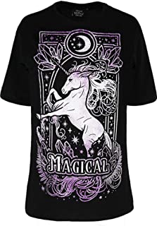 Restyle Magical Unicorn Luna Moon Crescent Oversized T-Shirt