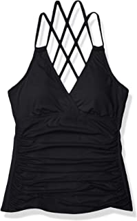 Viloree Damen Tankini Set Bademode B/ügelloser Bikini Top mit Racerback Bauchweg Figurformender