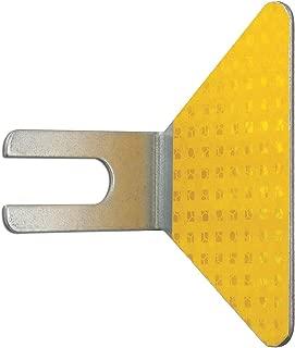 Bolt-On Guardrail Reflector, Steel, PK50