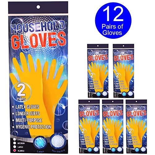 Haushaltshandschuhe Hygienischer Handschutz - Strapazierfähige Alltagshandschuhe, X-LARGE, 6