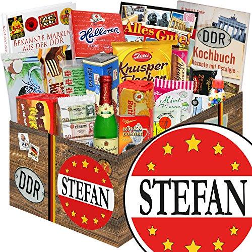 Stefan / DDR Korb Süßigkeiten / Stefan Geschenk Namenstag
