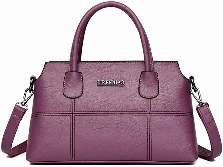 ArotOVL Frauen Handtasche mittleren mittleren mittleren Alters weiche Leder Mutter Tasche Damen große Kapazität Umhängetasche (Farbe   lila) B07L2SNGD4  Ein Gleichgewicht zwischen Zähigkeit und Härte 67544a