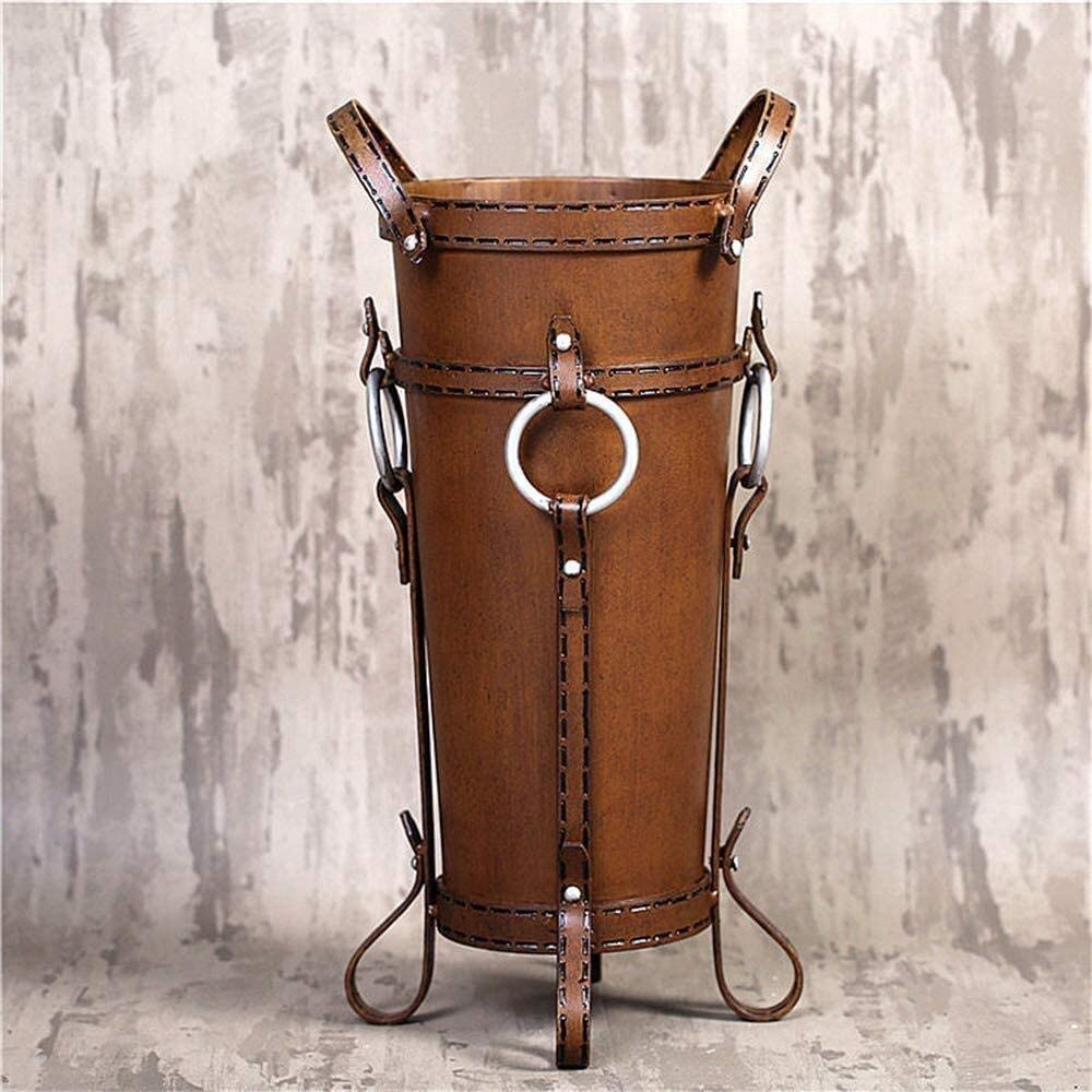 AINIYF Umbrella Stand Retro Our shop most popular Wrought Iron Househ Bucket Max 51% OFF
