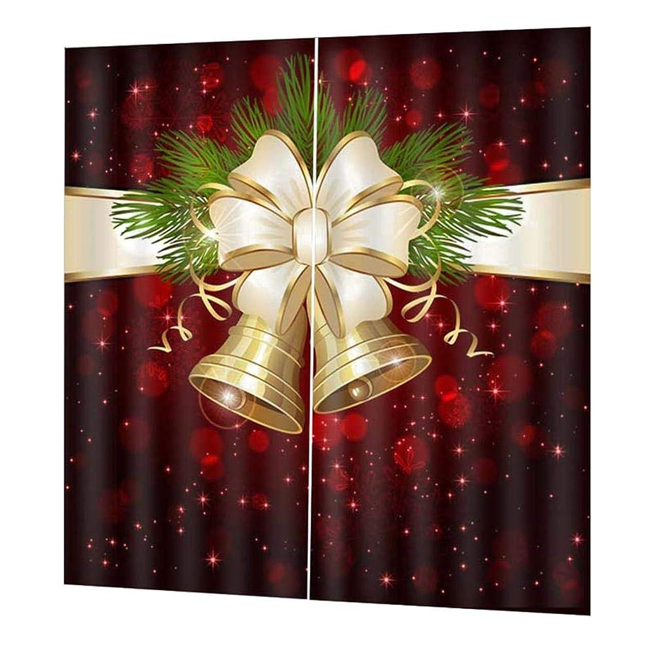 鳴らす真鍮練るクリスマスシャワーカーテン クリスマスリビングルームの寝室のカーテン クリスマススタイルのカーテン 厚い防水カーテン クリスマスの飾り