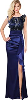 VFSHOW Womens Formal Ruched Ruffles Evening Prom Wedding...