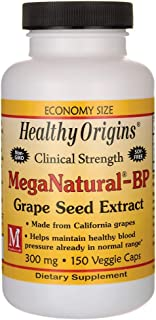 Clinical Strength Meganatural-Bp Grape Seed Extract 300 Milligrams 150 Veg Capsules