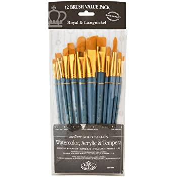Royal Brush Manufacturing Royal and Langnickel Zip N' Close 12-Piece Brush Set in Vinyl Pouch
