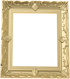 SaniMomo 1/12 Scale Gold Photo Frame Dollhouse Miniature Rooms Wall Decoration Accessories