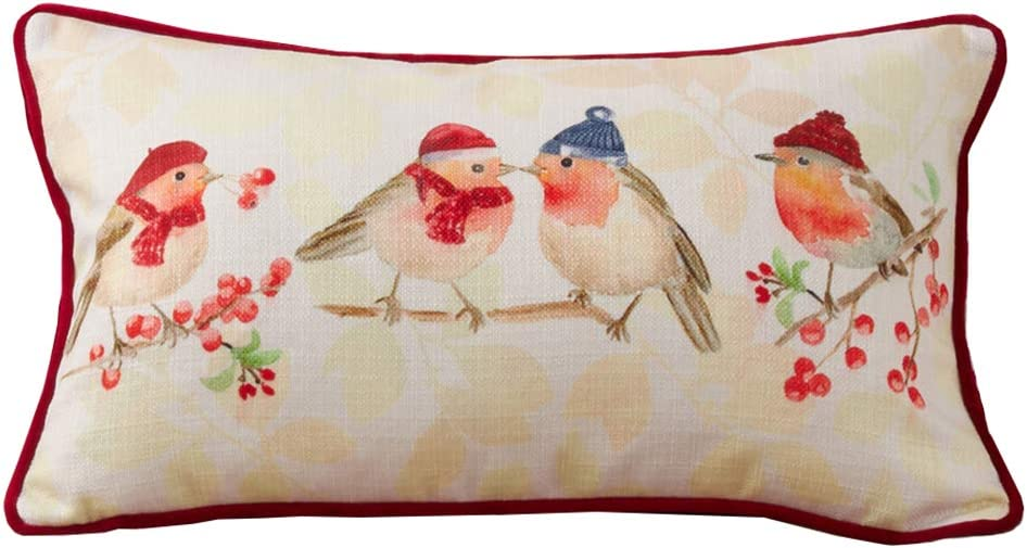 Fennco Styles Christmas Bird in Throw Winter Pillow Decorative C Direct store Max 51% OFF
