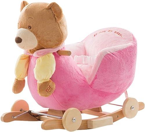 Caballo Caballo Caballo mecedora HUYP Productos para Niños Moda Juguete Mecedora Interior Linda Multifunción (Color   A)  venta con alto descuento