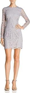 Dress the Population womens Ash Long Sleeve Lace Short Mini Dress Dress