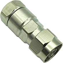 "DONG RF Connector N Male Crimp 1/2"" for Corrugated Copper Standard Andrew Heliax Silver"