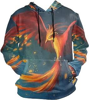 Phoenix Bird Hoodies 3D Print Athletic Hooded Sweatshirts for Men Girls Boys(Health Fabric)