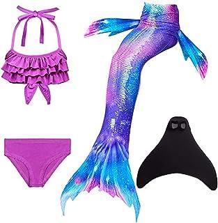 comprar comparacion SPEEDEVE Niñas Disfraz de Sirena con Aleta para Nadar