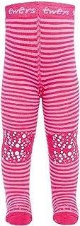 Ewers Baby- und Kinderkrabbelstrumpfhose für Mädchen Ringel, MADE IN EUROPE, Strumpfhose Baumwolle