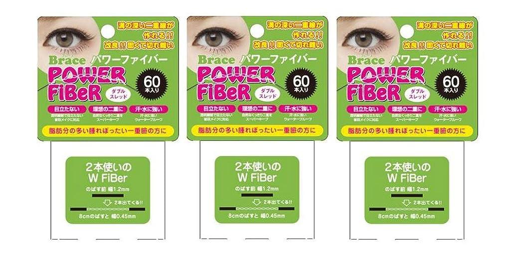 前者元気失業Brace ブレース パワーファイバー クリア 1.2mm (眼瞼下垂防止用テープ) 3個セット ダブルスレッド
