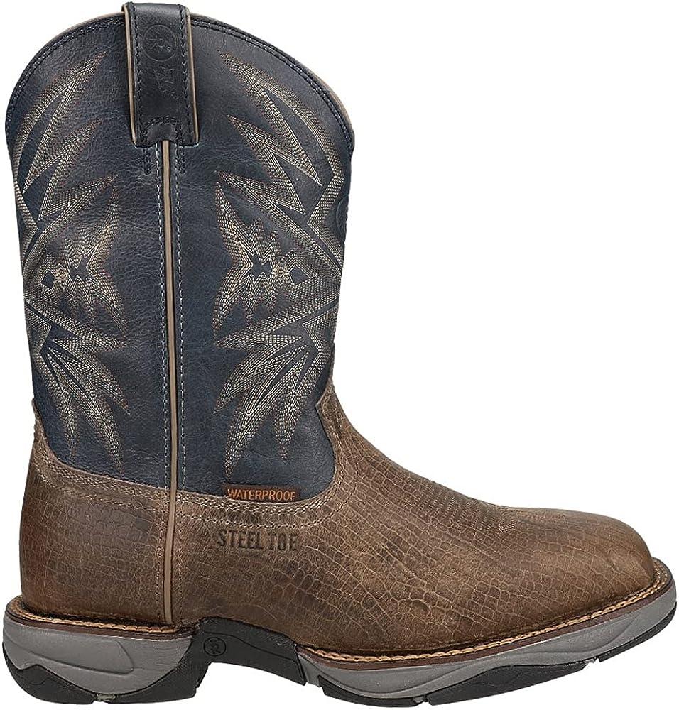 Tony Lama Men's Bartlett Max 64% OFF Stone 5% OFF Toe Boot Western Steel Work