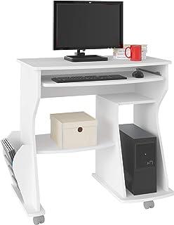 مكتب كمبيوتر 160 من ارتيلي مع مكان مخصص للكيبورد ووحدة المعالجة المركزية والطابعة، بلون ابيض، بعرض 88 سم × عمق 46 سم × ارت...