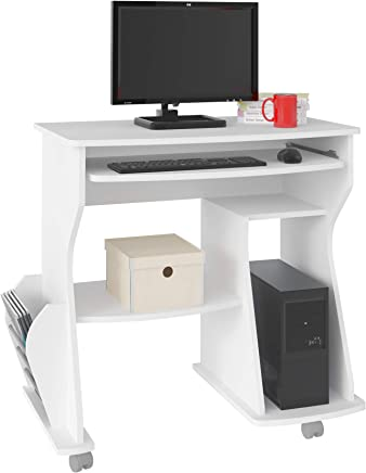 Artely Rack Para Computer Desk, White - H 78 cm x W 88 cm x D 46 cm