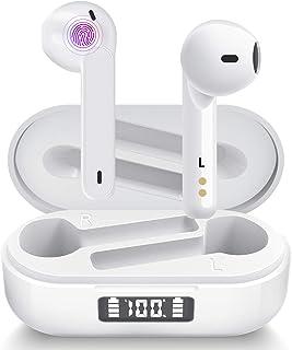 Auriculares Inalámbricos Aoslen Auriculares Bluetooth 5.1 Reproducción de 36 Horas Estéreo HiFi Control Táctil con Micrófo...