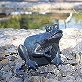 CLGarden Wasserspeier Figur Frosch für Teich Wasser Speier Springbrunnen Teichfigur